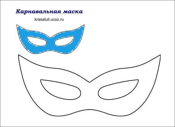 Шаблоны маскарадных масок 187